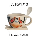 Ceramic Cup with Spoon (Hong Kong)