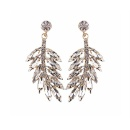 Crystal Leaf-shaped Earrings (China)