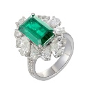 Zambian Emerald Ring (Hong Kong)