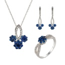 Sapphire Flower Jewelry Set (Mainland China)