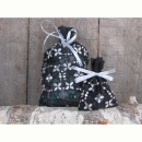 Set of Black Embroidered Lace Candy Buffet Bags (China)