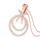 Real Brilliant Cut Diamond Studded Pendant Without Chain (India)