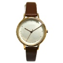 Brown Leather Strap Watch (Hong Kong)