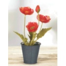 Artificial Potted Poppy Flower (Hong Kong)