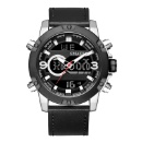 Waterproof Genuine Dual Display Quartz Wristwatches (China)
