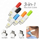 Magnetic Mini USB Charging Cable 3 in 1  (Hong Kong)