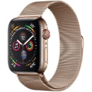 Apple Watch Series 4 44 mm Stainless Steel with Gold Milanese Loop GPS + Cellular (China)
