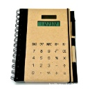 Promotional Solar Power Kraft Paper Notebook/Notepad Touch Screen Solar Calculator (Mainland China)