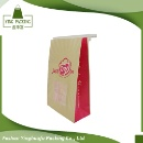 Food Grade Paper Packing Bag Popcorn Paper Bag with Tin Tie and Window (Mainland China)