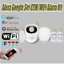 Amazon Alexa Google Home Wi-Fi WiFi GSM wireless smart home security fire smoke burglar alarm system (Mainland China)