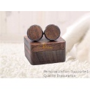 Walnut Wood Cuff Links with Wooden Gift Box (Mainland China)