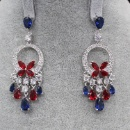 Colourful Stone Butterfly Shape Earring Plated RH (Mainland China)