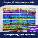Custom 3D Hologram Laser Label (Hong Kong)
