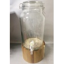 5L Glass Beverage Dispenser with Wooden Stand (Hong Kong)