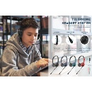 Headset with Flexible Mic for Home Learning & Teleconferencing (Hong Kong)