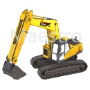 Educational Toy 3D Puzzle Excavator Paper Model  (Mainland China)