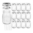 Glass Mason Jars 16 oz  (Mainland China)