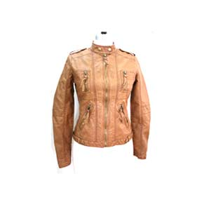 Ladies' Imitation-Leather Jacket (China)