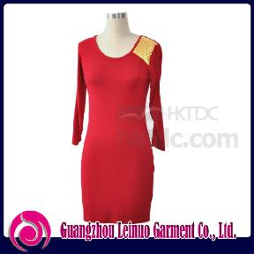 Fashion Ladies Knitted Dress (China)
