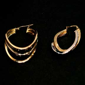 18K Gold Earrings (Turkey)