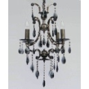 Crystal Pendant Lamp in Black Chrome (China)