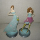 Set of 2 Metal Fashion Lady Standing Decoration Gifts (China)