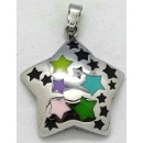 Stainless Steel Pendant with Epoxy (China)