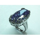 Purple CZ Silver Ring (香港)