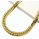 18K Curb Chain 6 Dimension Cut Double (Japan)