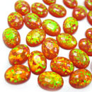 Mexico Orange Fire Created Opal (Hong Kong)