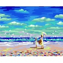 DIY Oil Painting Listen the Voice of Ocean (China)