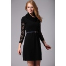 Lady Cowl Neck Short Sleeve Dress with Belt (Hong Kong)