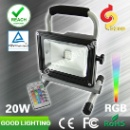 20W Rechargeable Flood Light RGB Color Changing Lamp with CE ROHS Certificates (China)