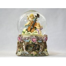 Junxin Angel Playing Violin Snow Globe 6.3 Inch Music Box Gift (China)