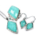 Go Nature Jewelry Set(Synthetic Turquoise Doublet) (Hong Kong)