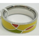 Stainless Steel Ring with Colorful Enamel (Hong Kong)