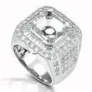 My Wish (18K White Gold Diamond Semi-mounting Ring) (Hong Kong)