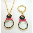 Souvenir, Magnifier Key Chain, Necklace, Gifts (Taiwan)