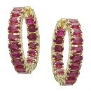 18K Yellow Gold Ruby Earring (Hong Kong)