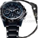 Black Sport Quartz Multifunction Watch with Solid Stainless Steel Band (Hong Kong)