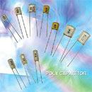Capacitor / Poly Capacitor (Color: Clear White And Clear Yellow) (Hong Kong)