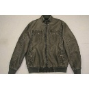 Men's Long Sleeves PU Leather Jacket in Grey Colur (Hong Kong)