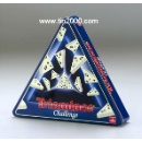 Triangular Tin for Toy or Chocolate (Hong Kong)