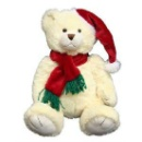 Teddy Bear with Christmas Hat (China)