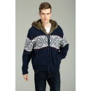 Men's Cable Zipper Cardigan (China)