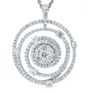 18K White Gold Pendant of Cluster Collection (Hong Kong)