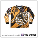 男装涤伦透气升华印花摩托车上衣 Men Polyester Moisture Wicking Sublimation Print Motorcycle Jersey (香港)