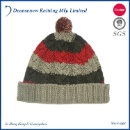 Fashion 70% Acrylic 30% Wool Cable Knitted Pom Pom Beanie (Hong Kong)
