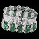 Natural Emerald Diamond Bracelet (Hong Kong)