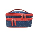 Two Compartments Cotton Cosmetic Bag (Hong Kong)